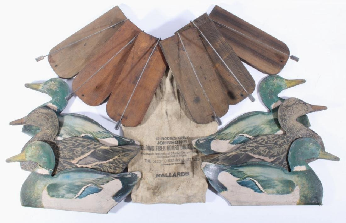 Early Johnson's Fiber Board Duck Decoy's