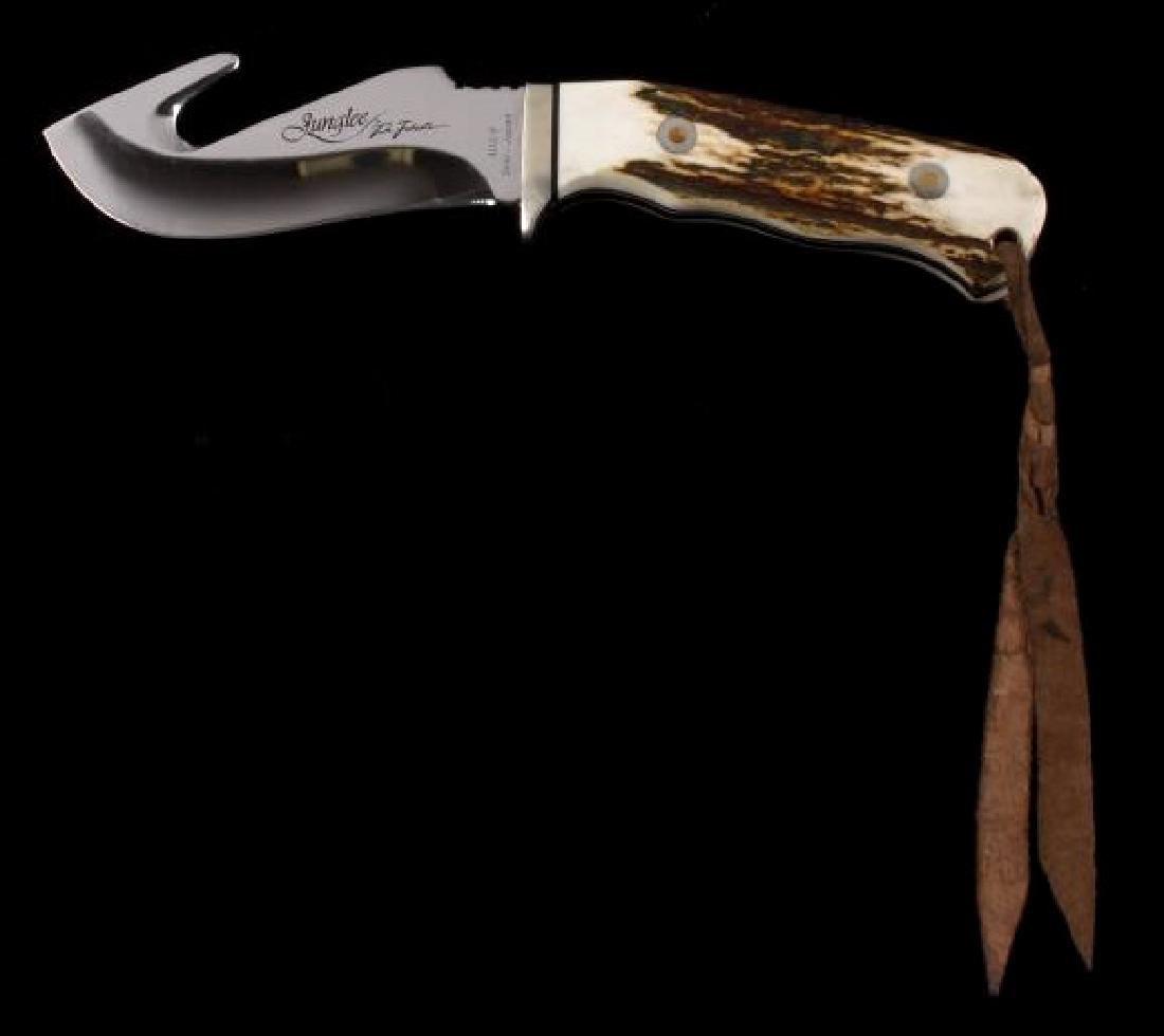 Junglee Tak Fukuta Skinner Stag Handle Knife
