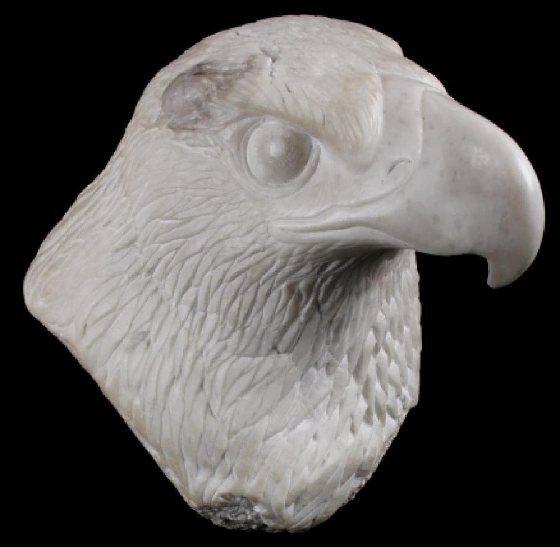 Native American Hand Carved Alabaster Bald Eagle
