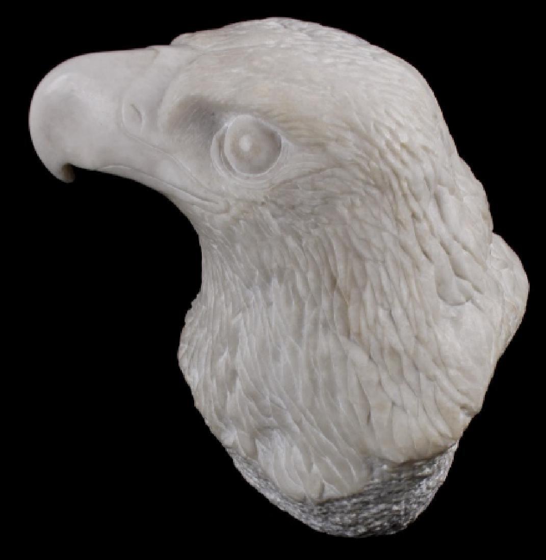 Native American Hand Carved Alabaster Bald Eagle - 2