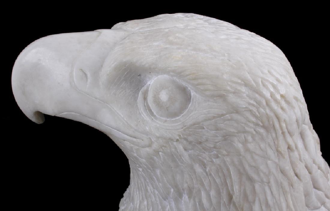 Native American Hand Carved Alabaster Bald Eagle - 7