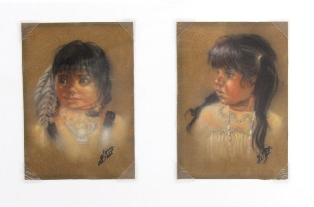 Original Gloria West Indian Girl Pastel Paintings