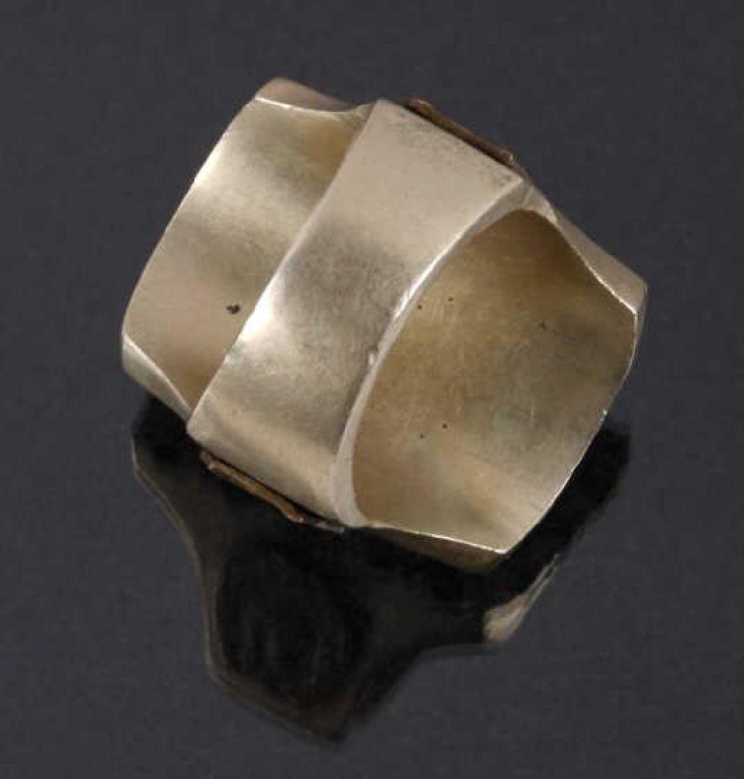 Navajo Brass & Copper Chief Pictorial Ring - 6