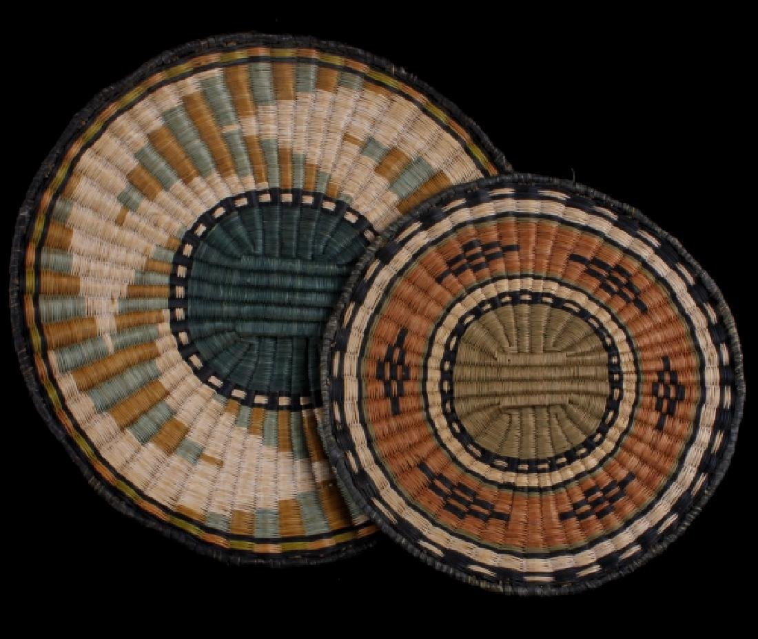 Hopi Native American Flat Weave Polychrome Baskets