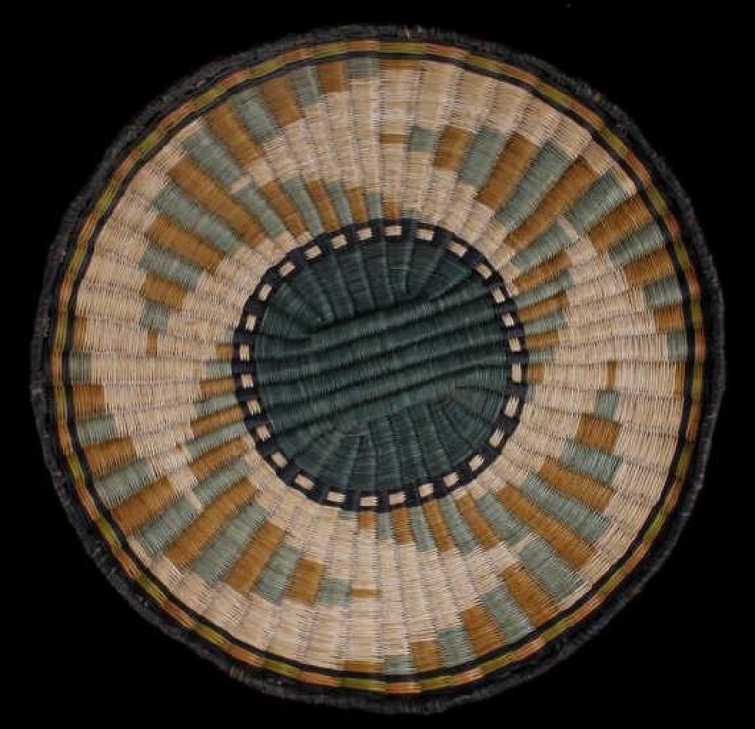 Hopi Native American Flat Weave Polychrome Baskets - 2