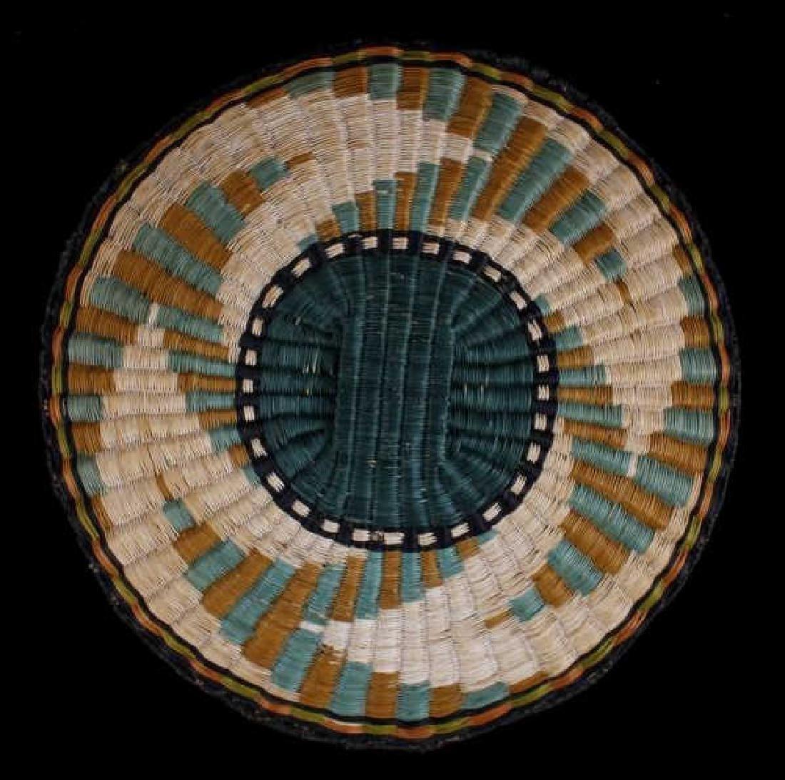 Hopi Native American Flat Weave Polychrome Baskets - 3