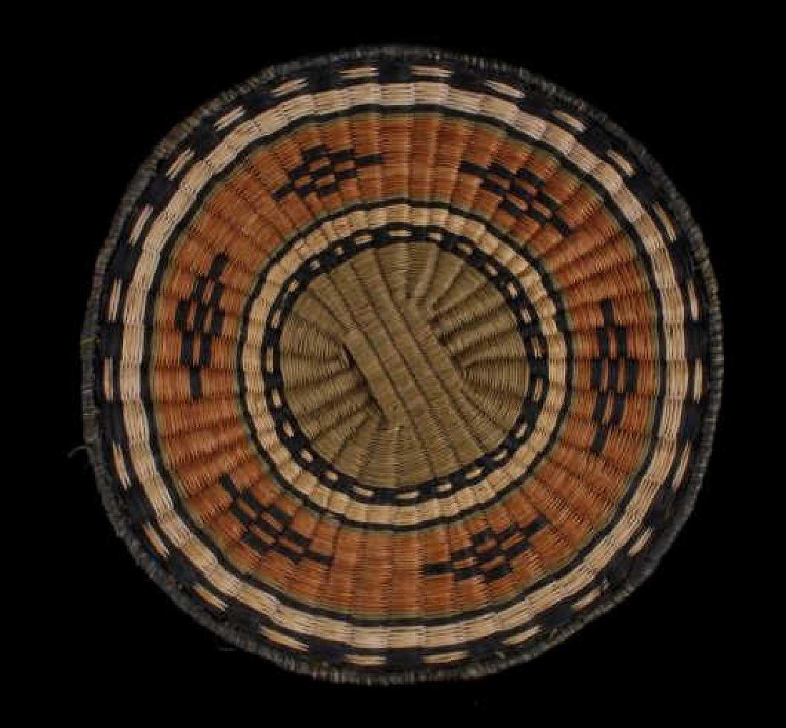 Hopi Native American Flat Weave Polychrome Baskets - 4