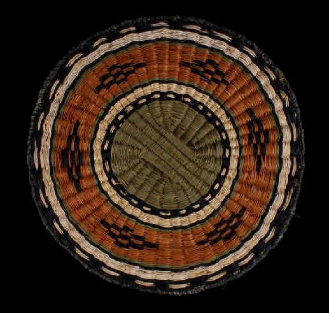 Hopi Native American Flat Weave Polychrome Baskets - 5