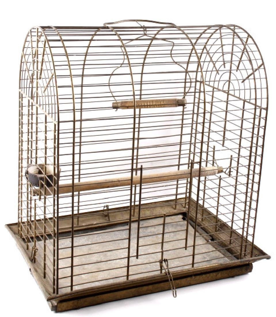 Antique 19th Century Brass Bird Cage