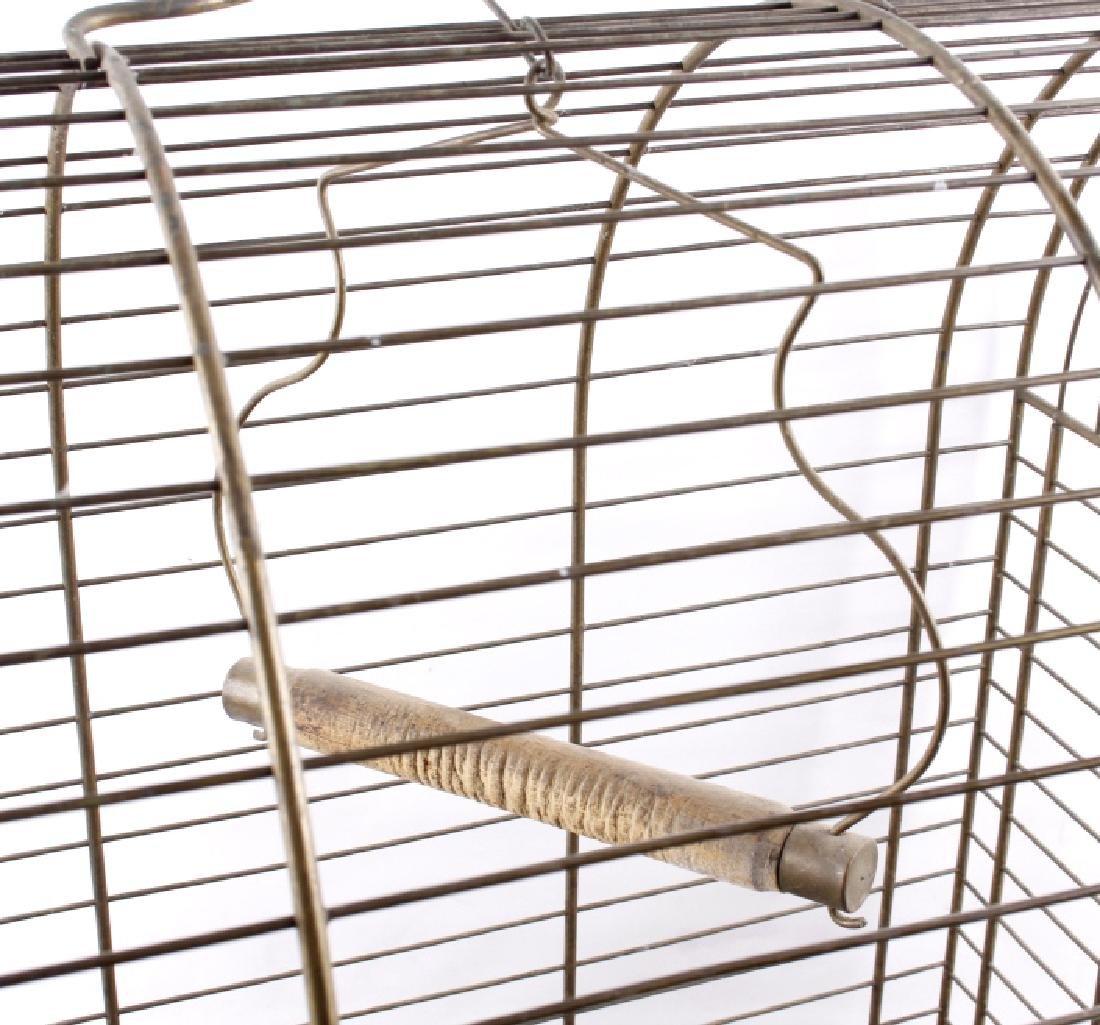 Antique 19th Century Brass Bird Cage - 3