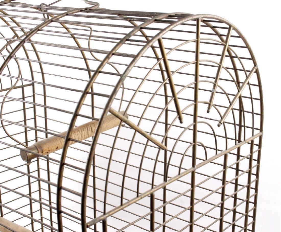 Antique 19th Century Brass Bird Cage - 7