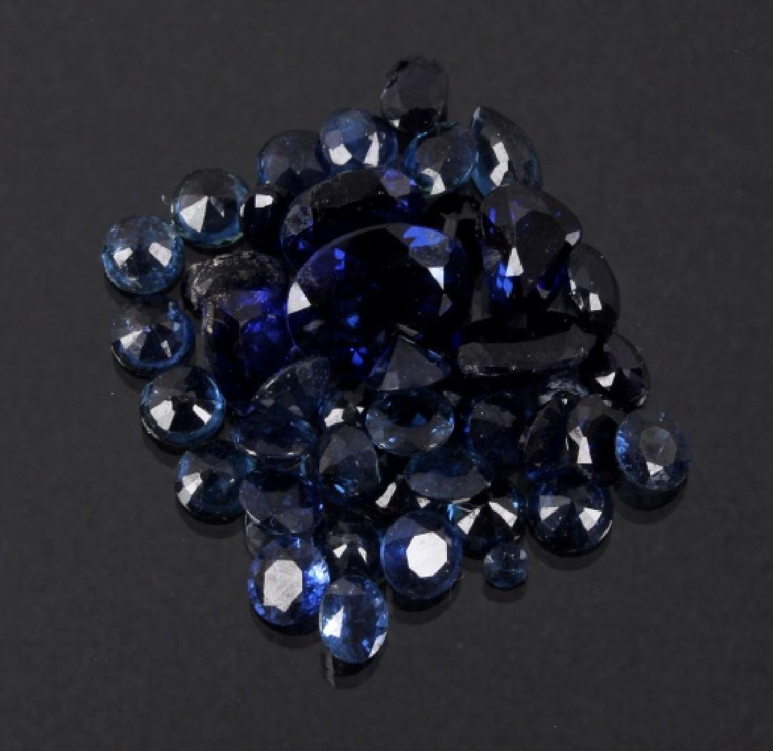 21ct. Faceted & Unmounted Blue Sapphire Gem Stones