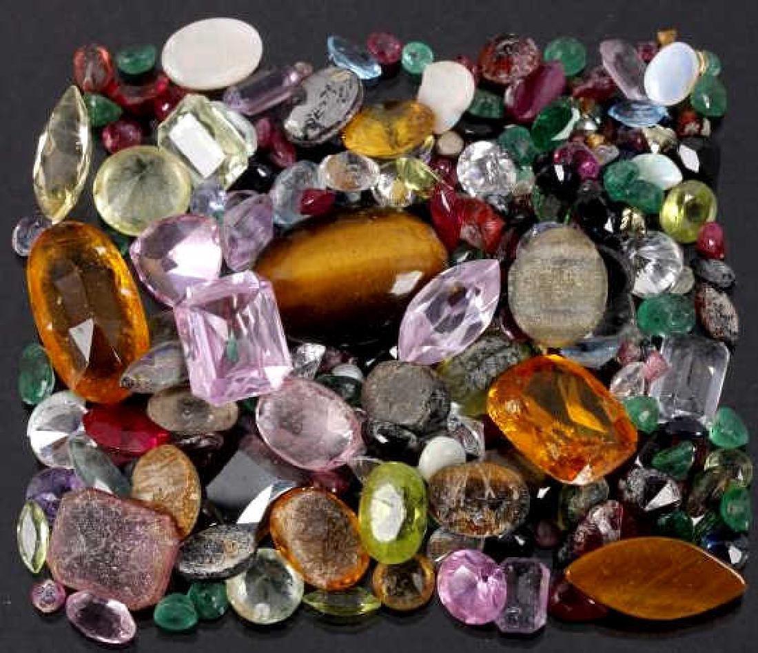 Various Precious & Semi-Precious Faceted Gemstones