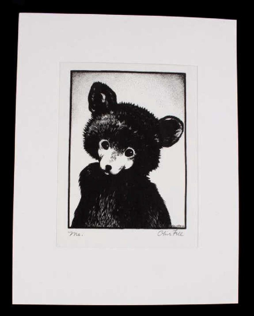 "Olive Fell ""Me"" Little Cub Bear Etching c. 1930's"
