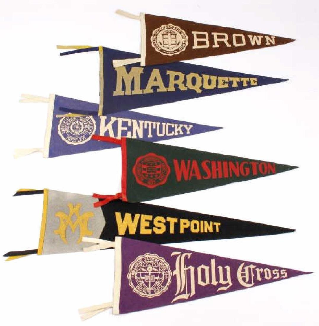Antique University Pennant Flags