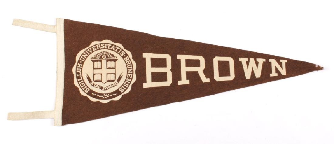 Antique University Pennant Flags - 8