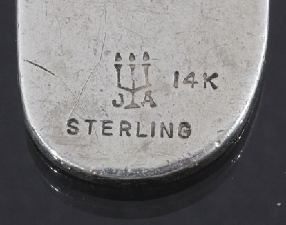 Sterling & 14k Gold Celtic Lamb Cross Pendant - 6