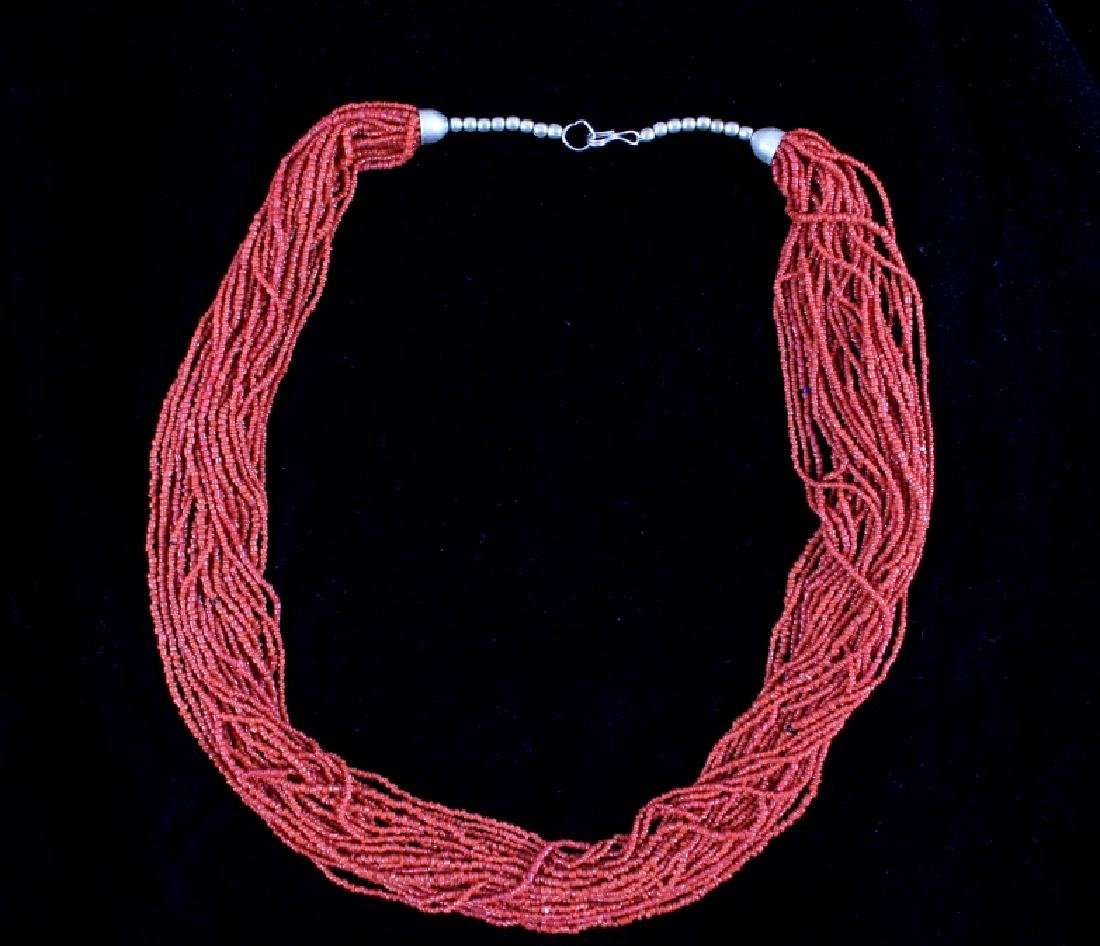 "31"" Multi-Strand Coral Necklace - 2"