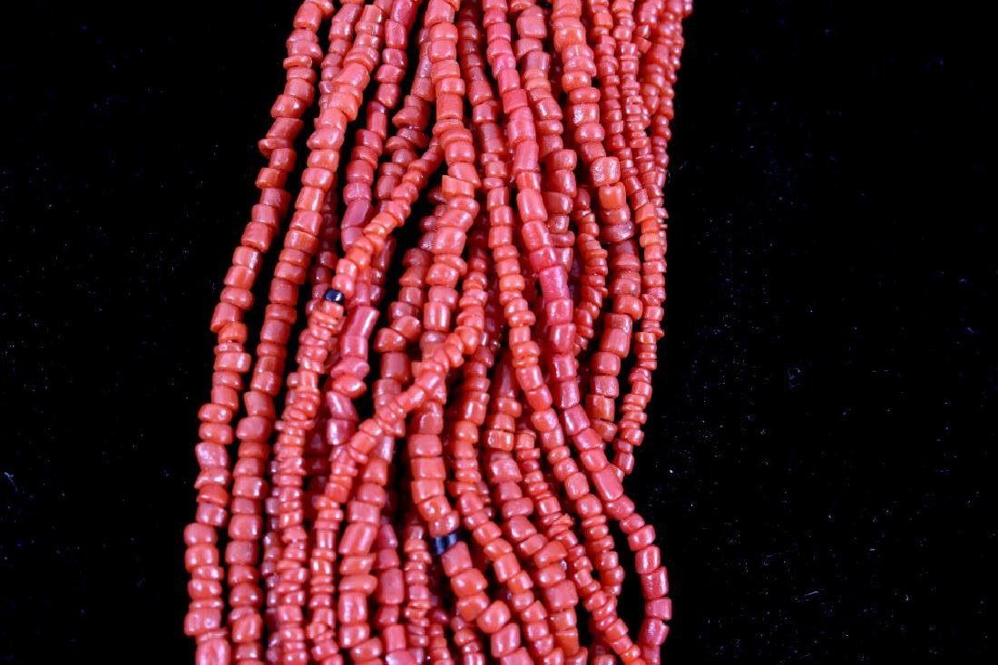"31"" Multi-Strand Coral Necklace - 3"