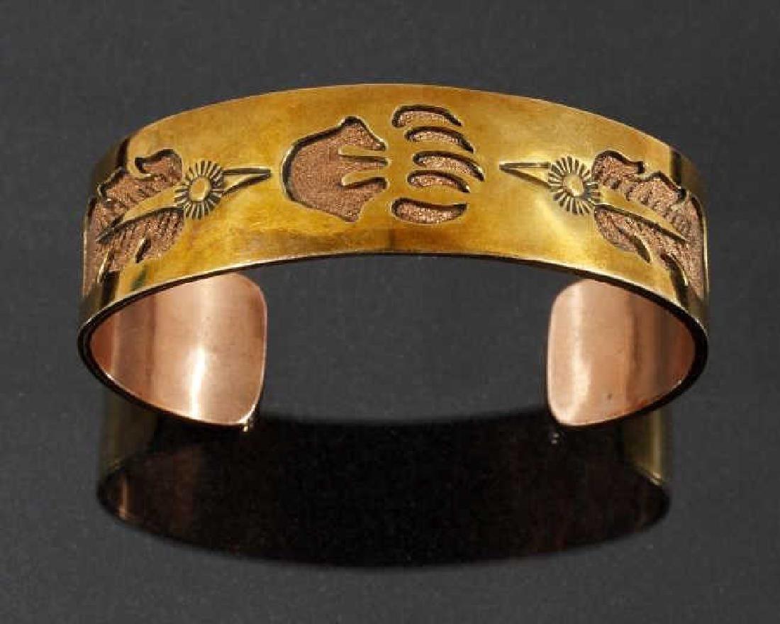Jefferson Lee Navajo Copper & 12K GF Cuff