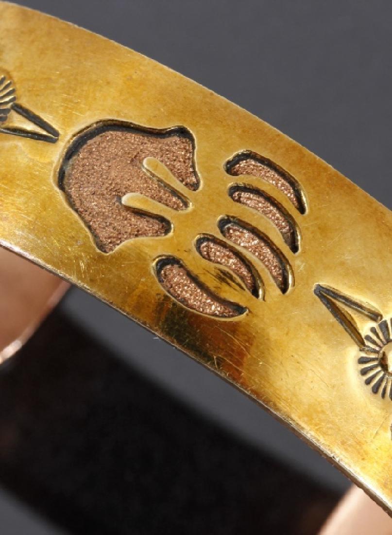 Jefferson Lee Navajo Copper & 12K GF Cuff - 2