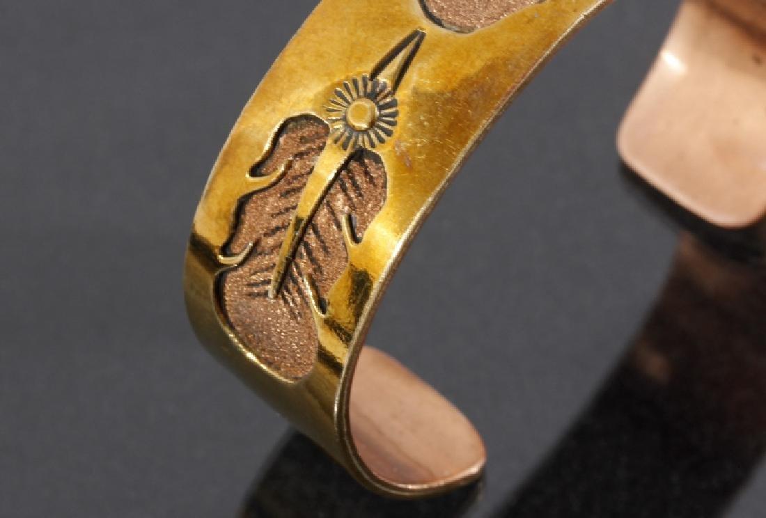 Jefferson Lee Navajo Copper & 12K GF Cuff - 3