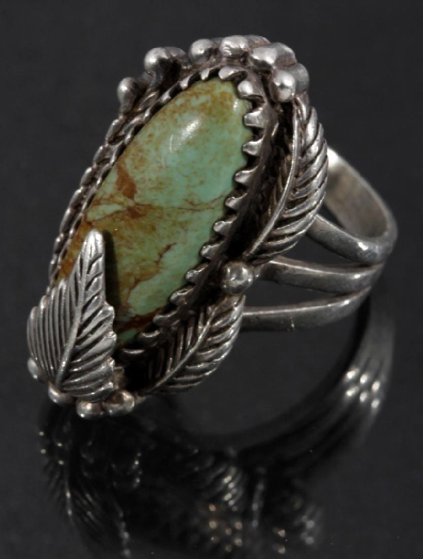 Carol Felley Navajo Cripple Creek & Sterling Ring