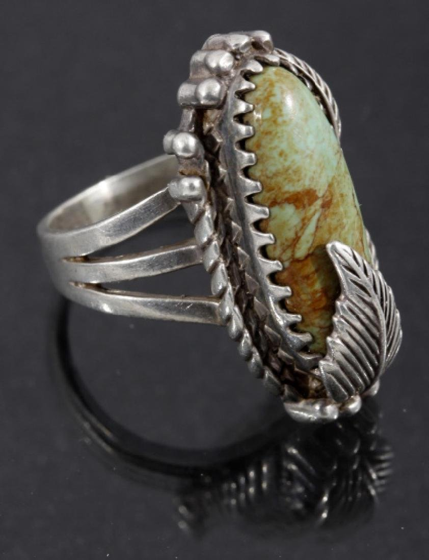 Carol Felley Navajo Cripple Creek & Sterling Ring - 3