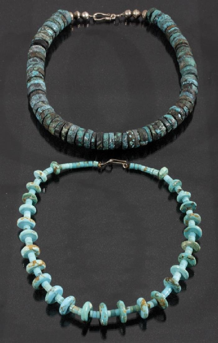 Cripple Creek & Kingman Turquoise Bead Necklaces