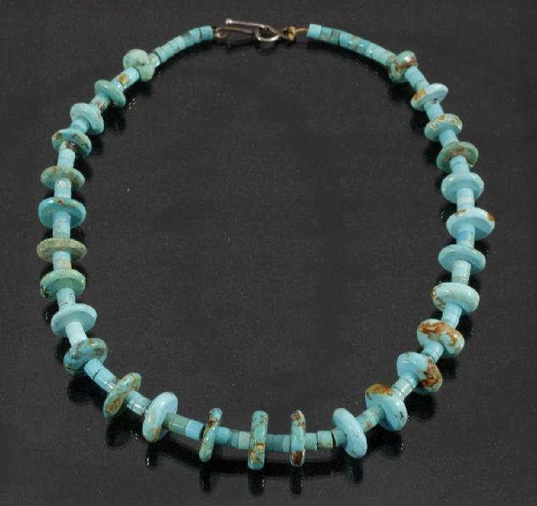 Cripple Creek & Kingman Turquoise Bead Necklaces - 6