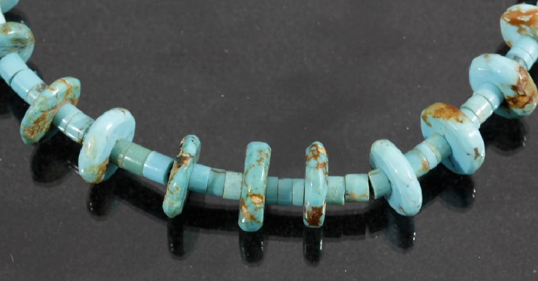 Cripple Creek & Kingman Turquoise Bead Necklaces - 7