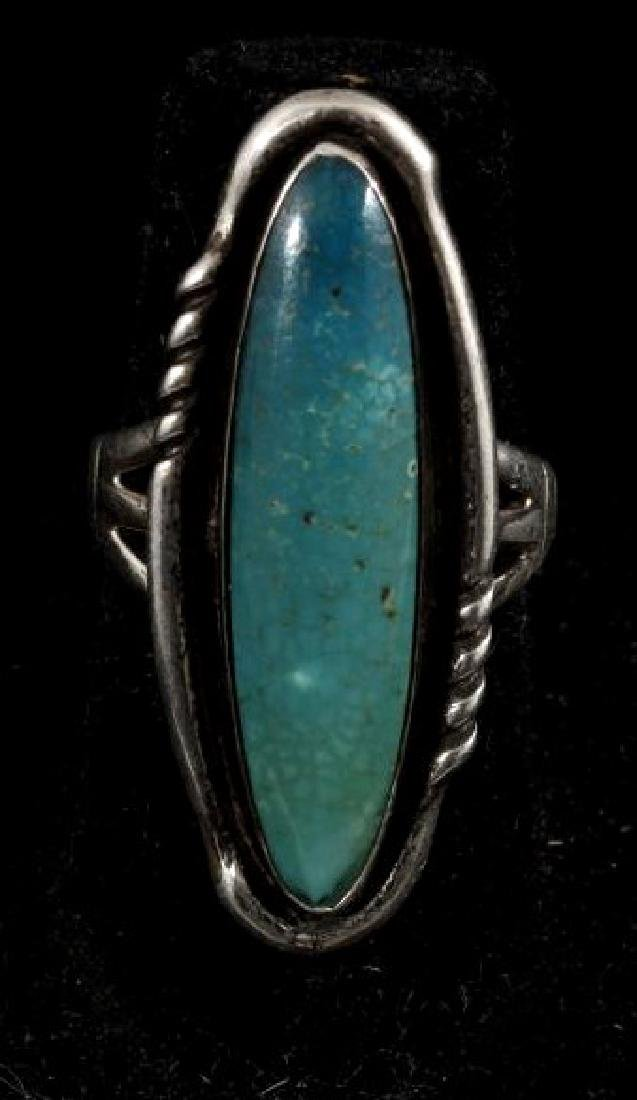 Signed Navajo Sterling Silver Ring Collection (5) - 10