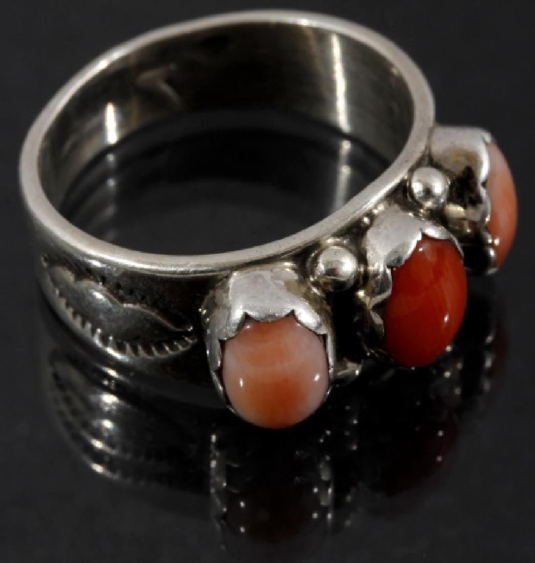 Signed Navajo Sterling Silver Ring Collection (5) - 2