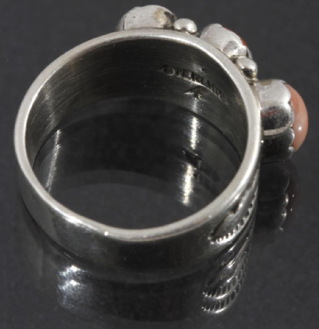 Signed Navajo Sterling Silver Ring Collection (5) - 3