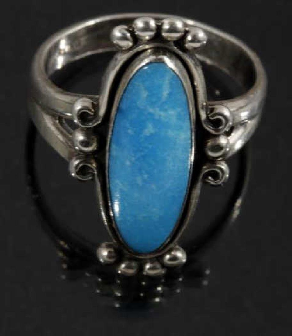Signed Navajo Sterling Silver Ring Collection (5) - 6