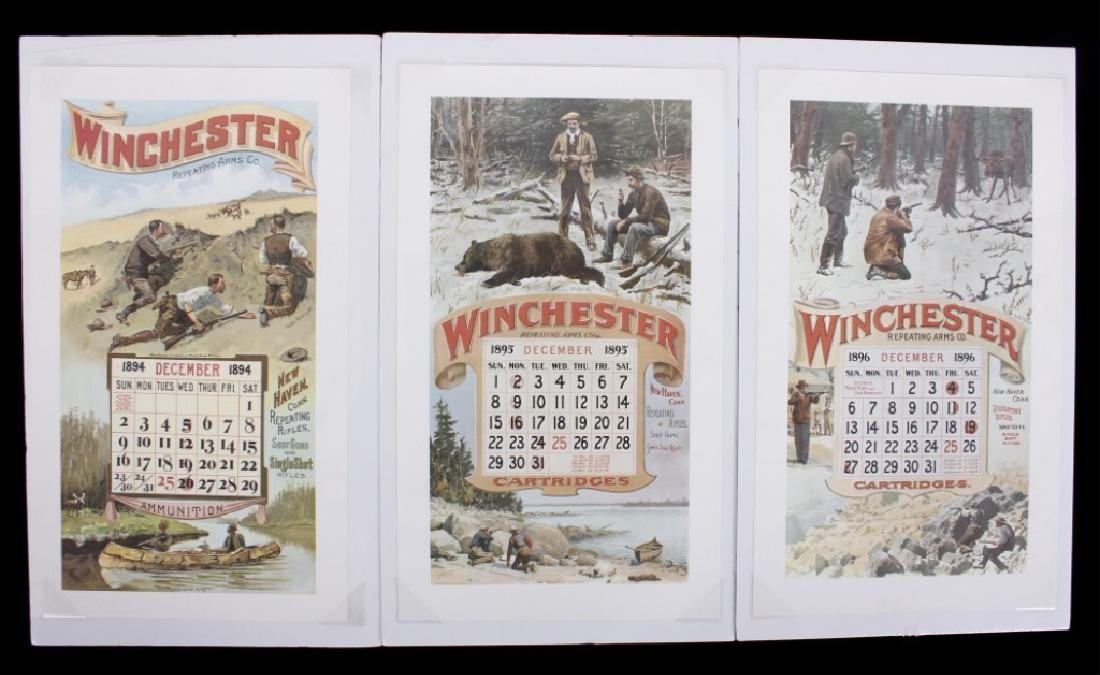 Winchester Repeating Arms Calendar Dec. 1894/95/96