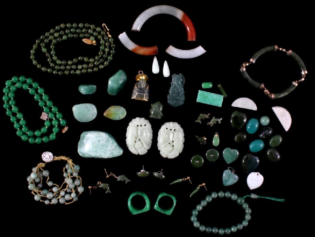 Collection Of Jade, 1847 Total Ct. Weight