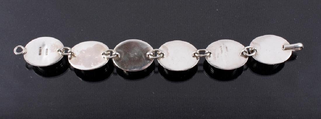 Two Sterling Silver And Gemstone Bracelets - 4