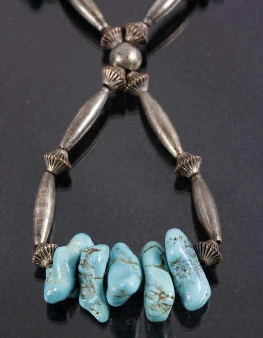 Navajo Cripple Creek Turquoise Necklace - 2
