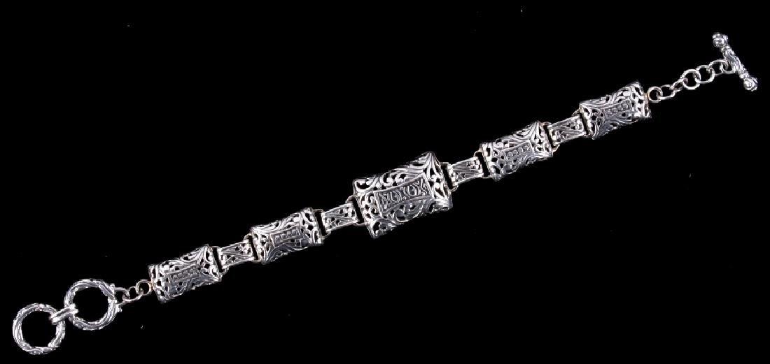 Handcrafted Thai .925 Silver Bracelet Signed