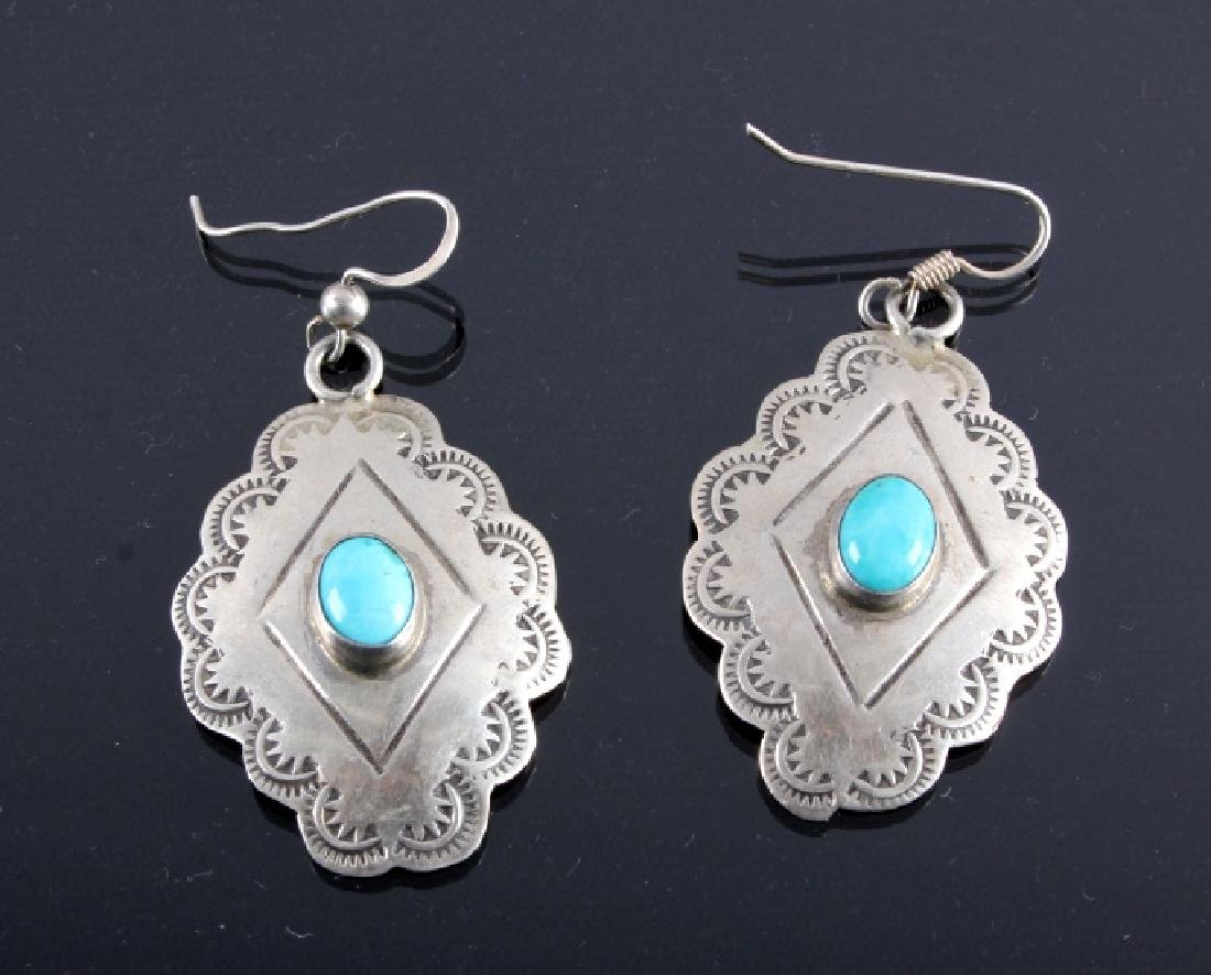 Navajo Sterling Silver Earring Collection - 4