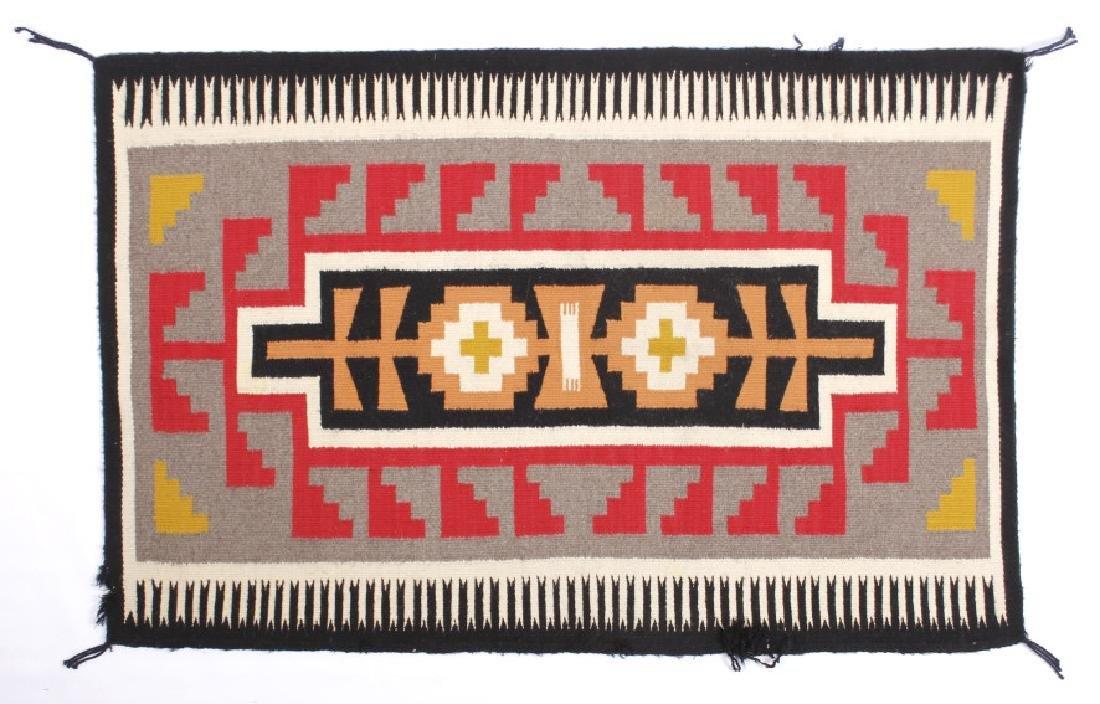 Exceptional Navajo Chinle Pattern Wool Rug c.1900-