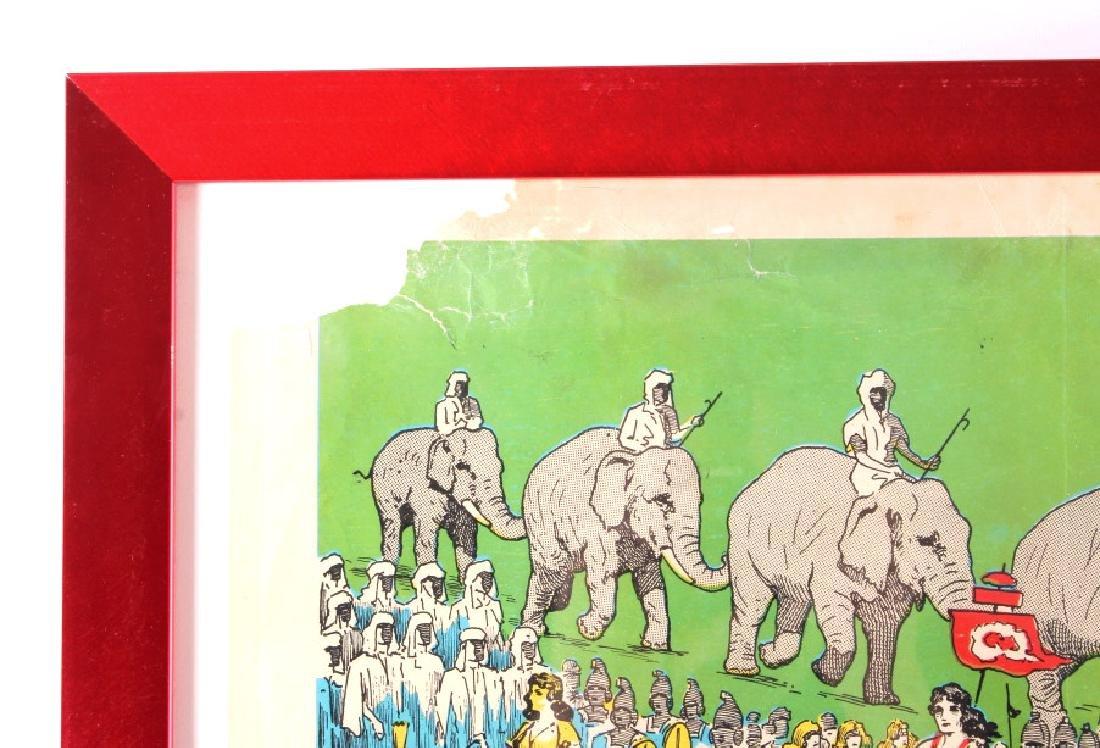 King Bros. & Cristiani Circus Framed Poster 1950- - 10