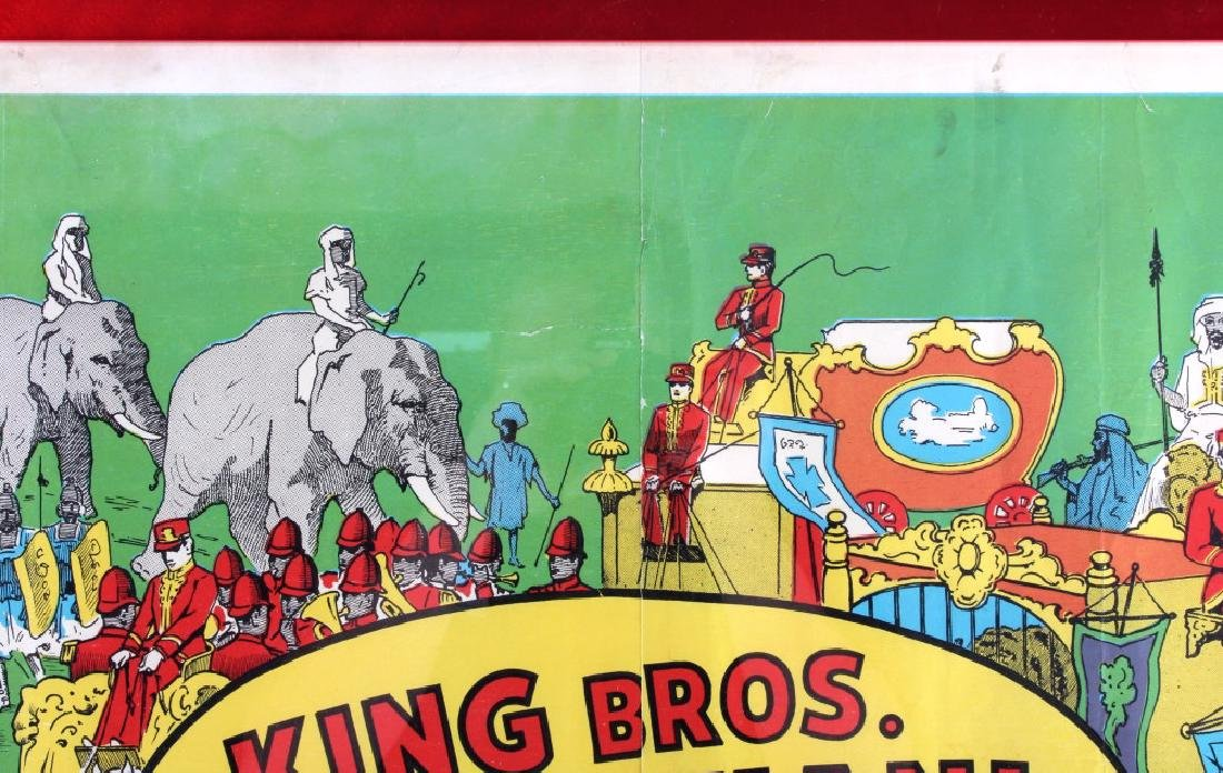 King Bros. & Cristiani Circus Framed Poster 1950- - 11