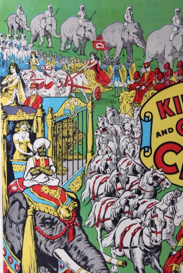 King Bros. & Cristiani Circus Framed Poster 1950- - 3