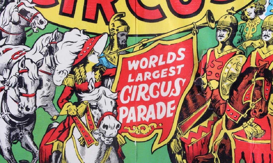 King Bros. & Cristiani Circus Framed Poster 1950- - 5