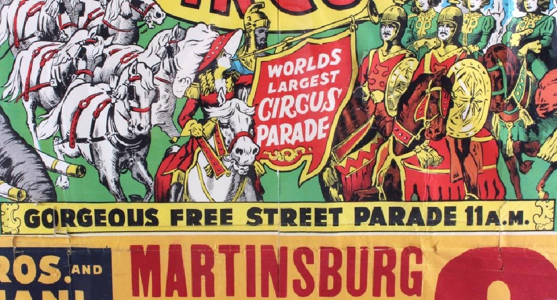 King Bros. & Cristiani Circus Framed Poster 1950- - 6