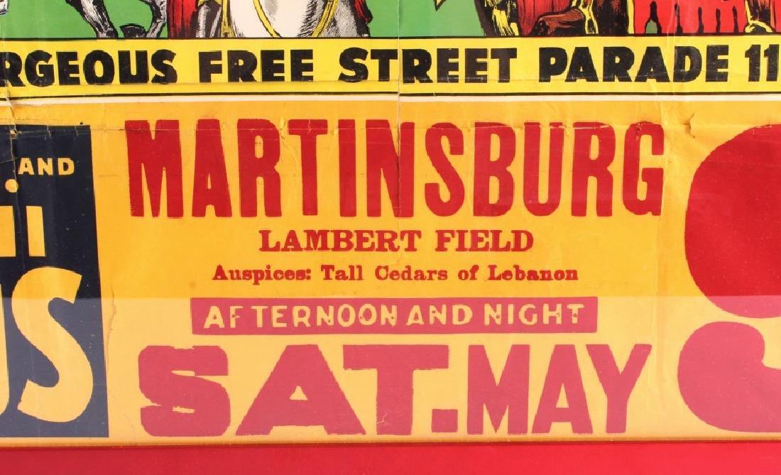 King Bros. & Cristiani Circus Framed Poster 1950- - 7