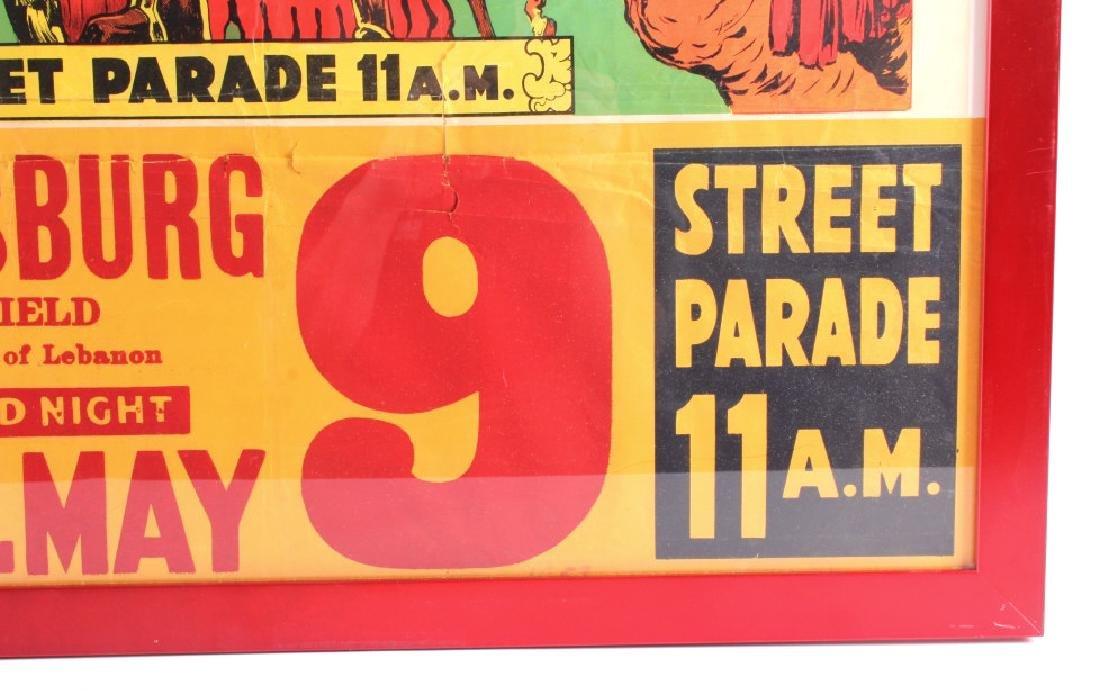 King Bros. & Cristiani Circus Framed Poster 1950- - 9