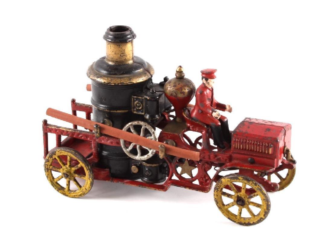 Hubley Cast Iron Fire Engine Pumper c. 1920 RARE